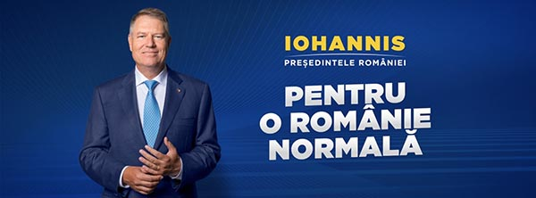 banner klaus iohannis