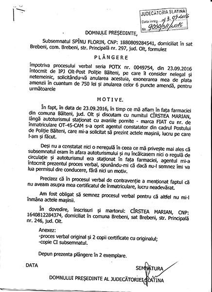 contestatie judecatorie spanu florin