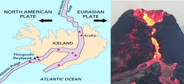Islanda, formată pe marele rift Atlantic • Vulcanul Fagradalsfjall, 20 martie 2021