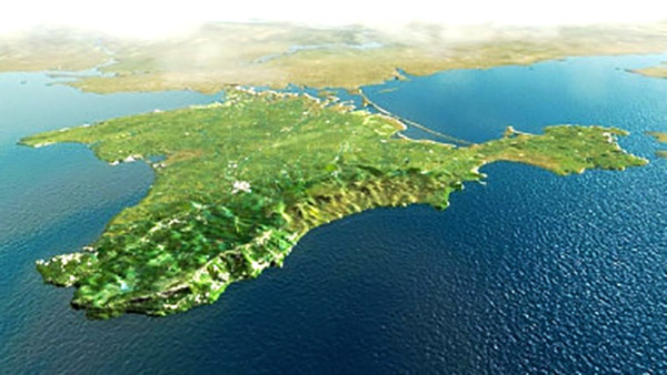Peninsula Crimeea (foto Google Maps)